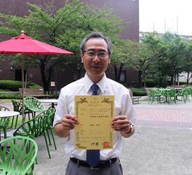 特許習得した福井先生