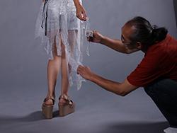 Photographer八嶋のぼる氏をゲストスピーカーとしてお迎えし、デジタルファッションショー(丹田ゼミ)のスタジオ撮影をしました。