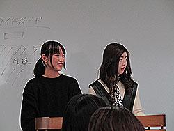 新・幹事⻑の村尾さん(写真左)と新・副幹事⻑の大丸さん(写真右)による進⾏