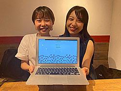 中田帆乃花さん(左)